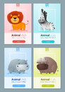 Set of Wild animal templates for web design Royalty Free Stock Photo