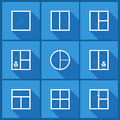 Set with window icons. Royalty Free Stock Photo