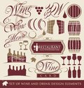 Set of wine design elements. Stock Photos
