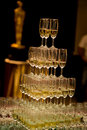 Set of wine glasses on the table celebrations Royalty Free Stock Photography