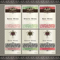 Set of wine label templates Stock Images