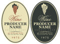 Set wine labels