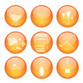 Set of winery sphere icons Stock Photos