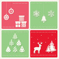Set of winter celebration images decoration Stock Photos