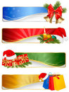 Set of winter christmas backgrounds. Stock Photos