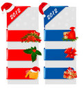 Set of winter christmas banners. Vector Stock Image