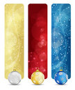 Set of winter christmas vertical banners vol. 02 Stock Images
