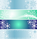 Set of winter seasonal banners is resented Stock Photography