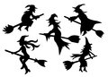 Set of witches on white background Royalty Free Stock Images