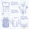 Set of woman casual clothes
