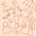 Set woman clothes Royalty Free Stock Photos