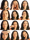 Set Of Woman Expression Royalty Free Stock Photos