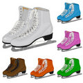 The set women's figure ice skate Royalty Free Stock Photo