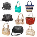 Set women's handbags Royalty Free Stock Photo