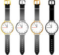 Set of Womens Watches Royalty Free Stock Image