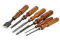 Set of wood chisel for carving , sculpture tools Royalty Free Stock Photo