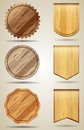 Set of wood elements for design vector Stock Photo