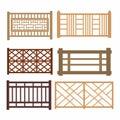 Set of wood fences Royalty Free Stock Photo