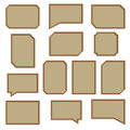 A set of wooden frames, vector illustration. Royalty Free Stock Photo