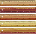 Set of wooden rulers Stock Photo