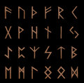 Set of wooden runes Royalty Free Stock Images