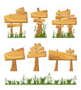 Set of wooden sign Royalty Free Stock Photo