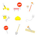 Set of work icons vector illustration Royalty Free Stock Photography