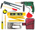 Set of work tools Royalty Free Stock Photo