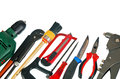 Set working tools isolated white background Stock Image