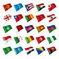 Sada skládající se z vlajky 4