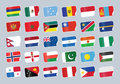 Set of world flags. Royalty Free Stock Photo
