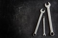 Set of 3 wrenches Royalty Free Stock Photo