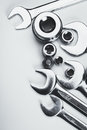 Set of wrenches. Tools Royalty Free Stock Photo