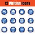 Set of writer icons Royalty Free Stock Photo