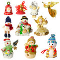 Set of xmas toys Stock Photography