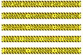 Set of yellow caution tape concerning social or safe distancing lockdown quarantine in an outbreak period vector isolated Royalty Free Stock Photo