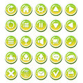 Set of yellow green glassy buttons for interfaces game interface app user interface vector gui elements mobile or pc Royalty Free Stock Photo