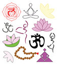 Set of yoga icons Stock Image