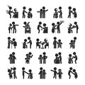 Set of young volunteer character , Human pictogram Icons
