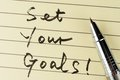 Set your goals Royalty Free Stock Image