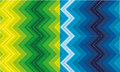 Set of zigzag patterns two versions a seamless vertical pattern Stock Images