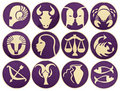 Set of Zodiac symbols