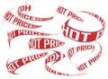 Setas de compra do vetor de sentido dos preços quentes ajustadas Imagens de Stock