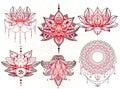 Seth mandala tattoo, Lotus