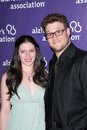 Seth rogen lauren miller at the th annual a night at sardi s fundraiser and awards dinner benefiting the alzheimer s association Royalty Free Stock Images