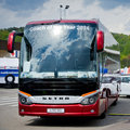 Setra s hd coach vilnius lithuania may on may in vilnius lithuania is a german bus division of evobus gmbh itself a wholly Stock Photos