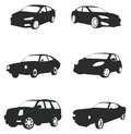 Sets of silhouette cars, create by  Stock Photos
