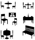 Sets of silhouette furniture, create by vector Royalty Free Stock Photos