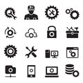 Setting, configuration, Set up, Repair , Tuning icon set