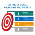 Setting of goals, objectives and targets, Vector illustration of infographic